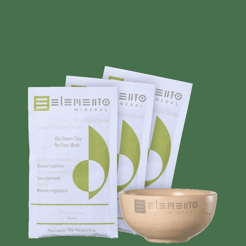 Kit Elemento Mineral Bio Argila Verde (4 produtos)