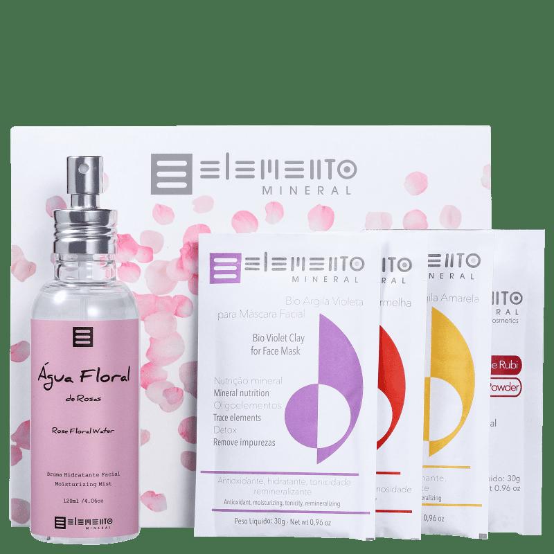 Kit Elemento Mineral Elemento Natural Rosas (5 Produtos)