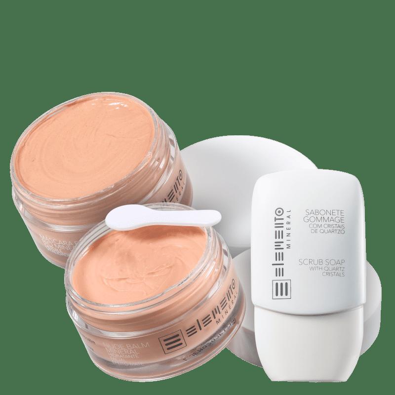 Kit Elemento Mineral Limpeza Hidratante (3 Produtos)