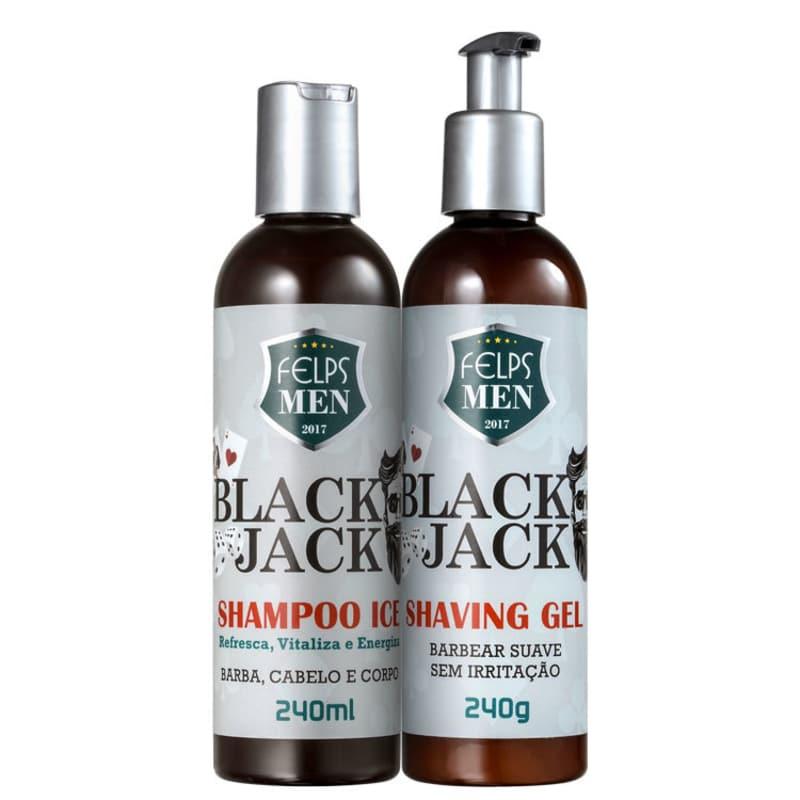 Kit Felps Profissional Men Black Jack Ice Shave (2 Produtos)