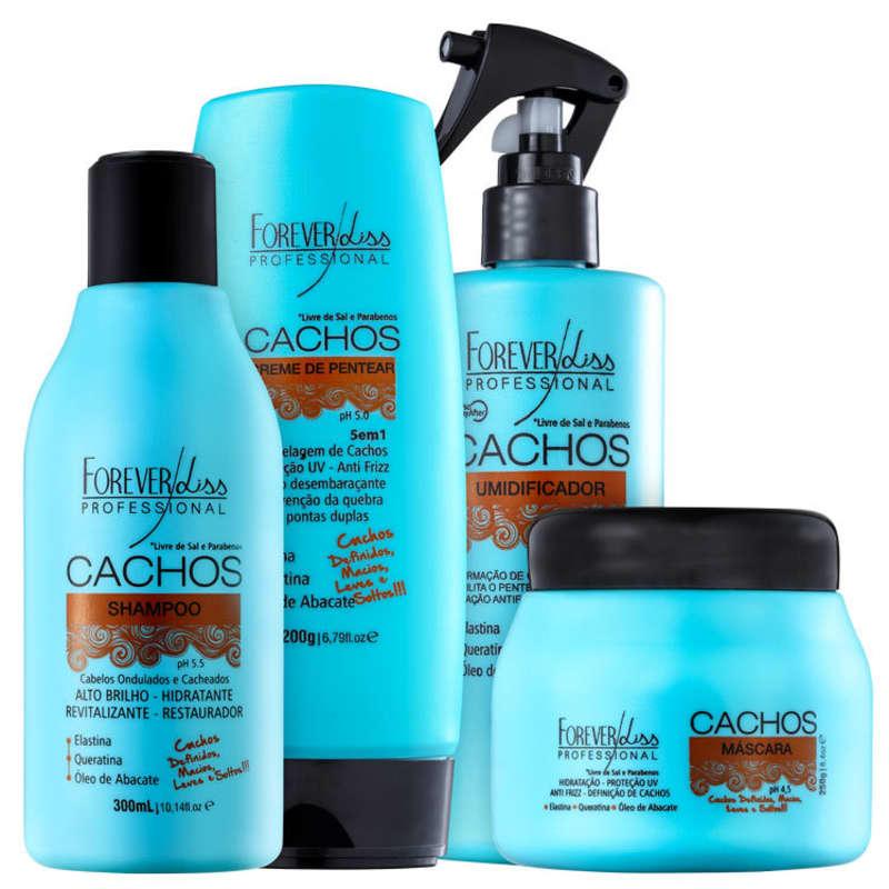 Kit Forever Liss Professional Cachos Full (4 Produtos)