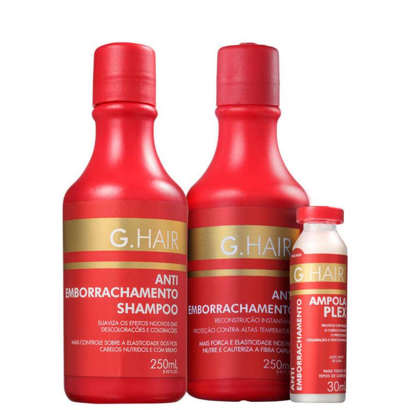 Kit G.Hair Antiemborrachamento Tratamento (3 Produtos)