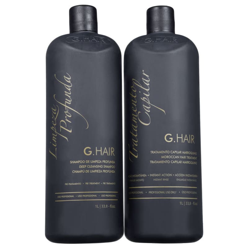 Kit G.Hair Tratamento Capilar Marroquino Salon (2 Produtos)