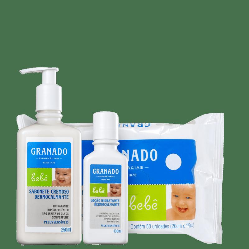 Kit Granado Bebê Dermocalmante Peles Sensíveis (3 Produtos)