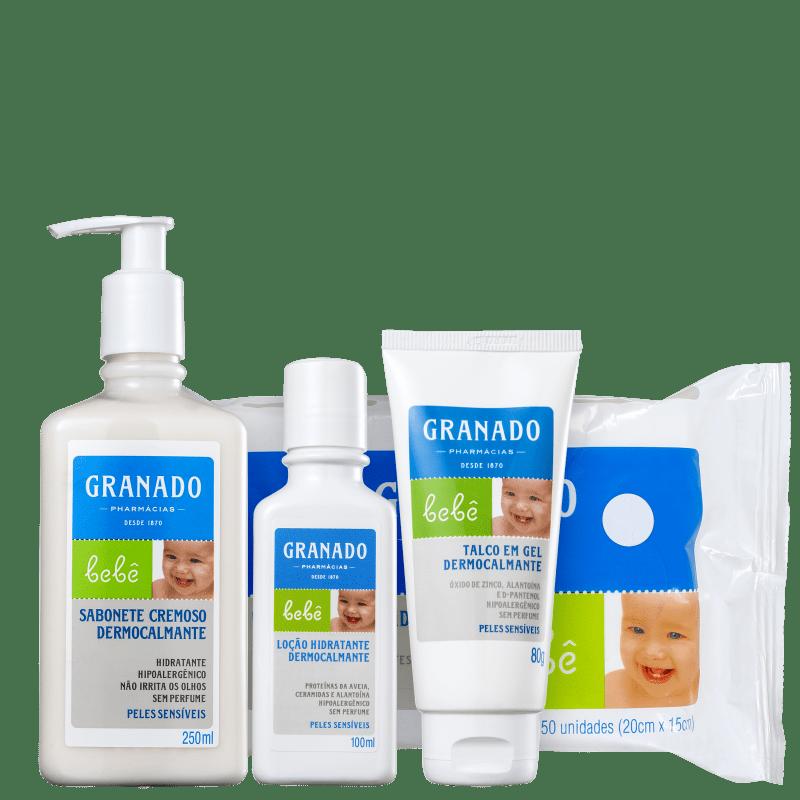 Kit Granado Bebê Dermocalmante Peles Sensíveis Full (4 Produtos)
