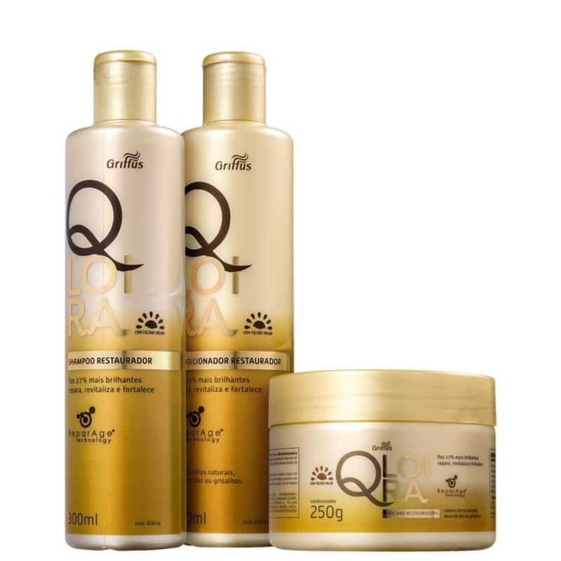 Kit Griffus QLoira Tratamento (3 Produtos)