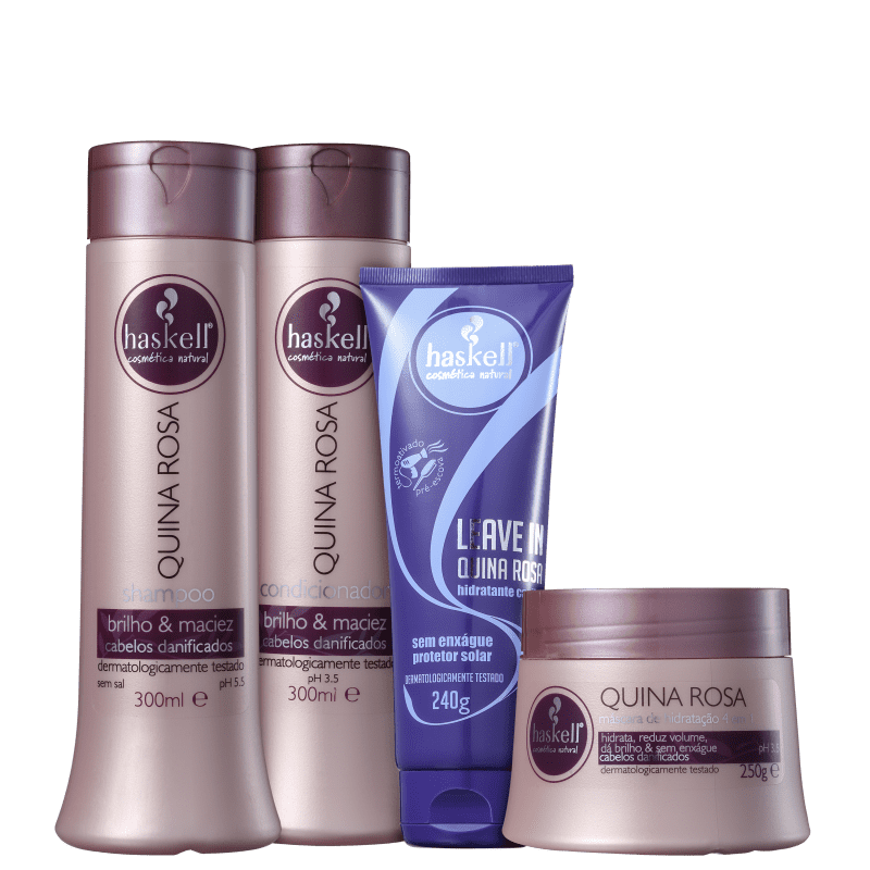 Kit Haskell Quina Rosa Completo (4 Produtos)