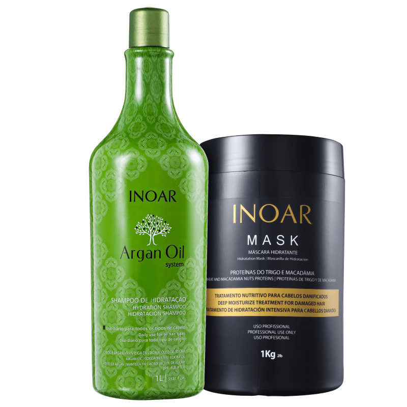 Kit Inoar Argan Oil System Promo Cabelo Perfeito Ano Todo (2 Produtos)