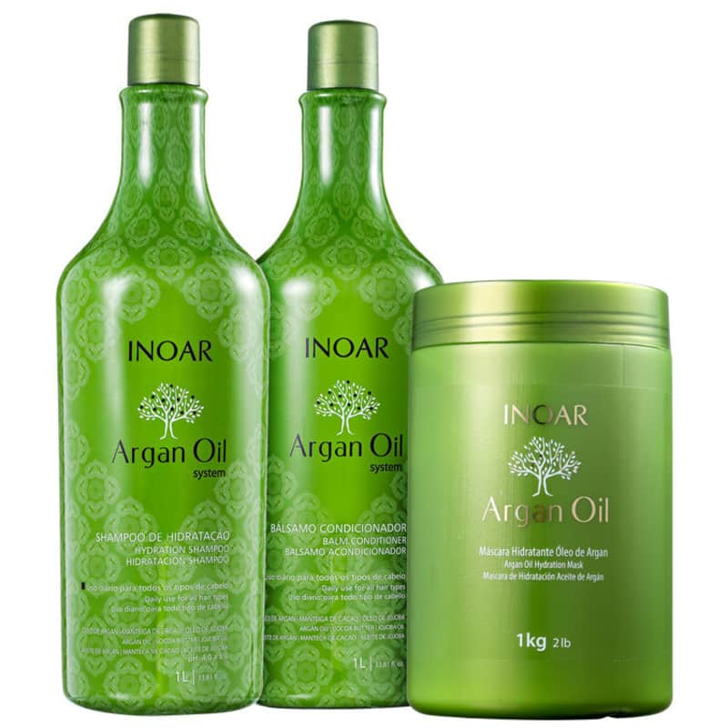 Kit Inoar Argan Oil System Salon Trio (3 Produtos)