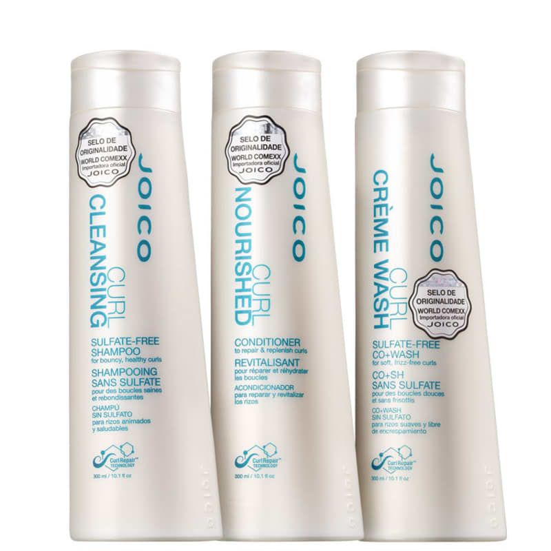 Kit Joico Curl Cleansing Nourished Co+Wash Triplo (3 Produtos)