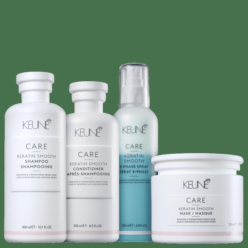 Kit Keune Care Keratin Smooth Reconstrução e Proteção (4 Produtos)