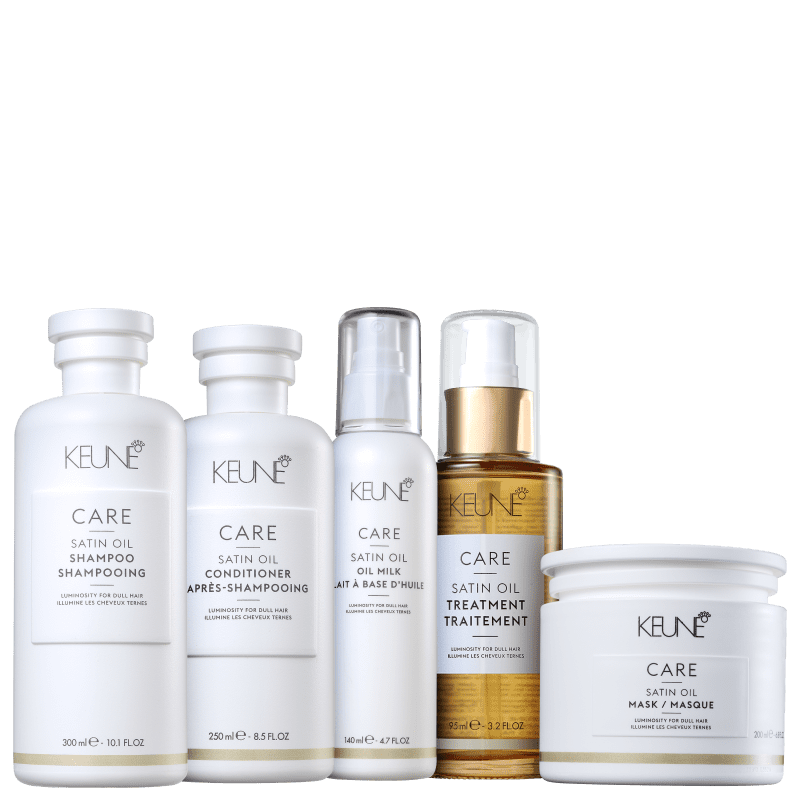 Kit Keune Satin Oil Completo (5 Produtos)