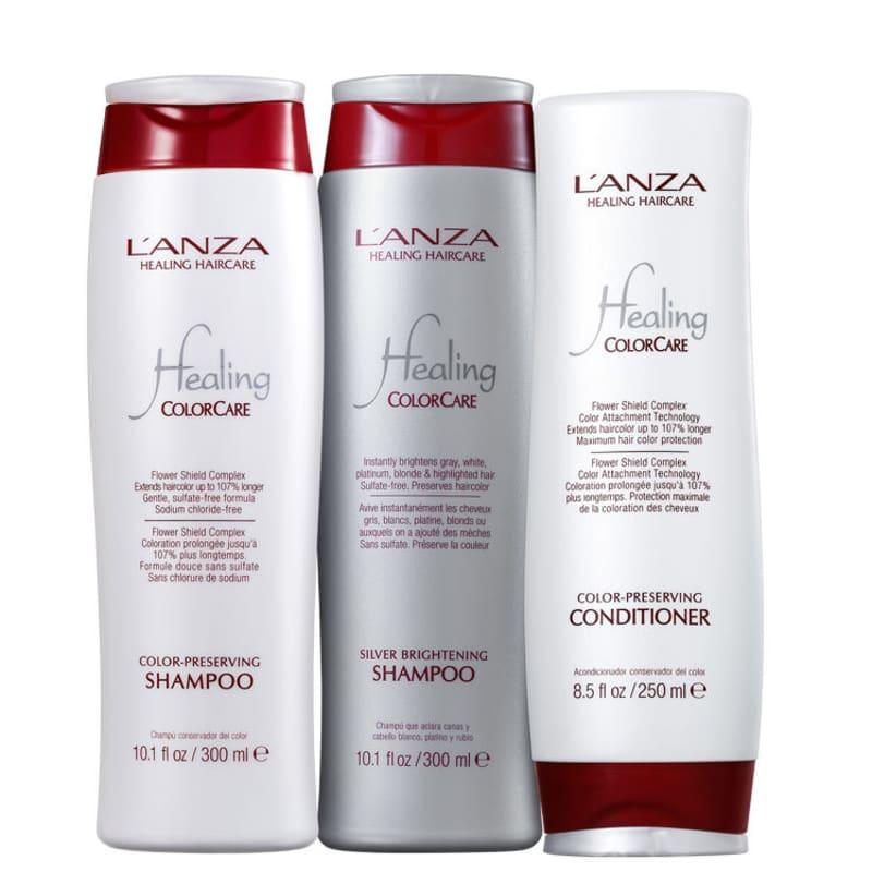 Kit L'Anza Healing ColorCare Silver (3 Produtos)