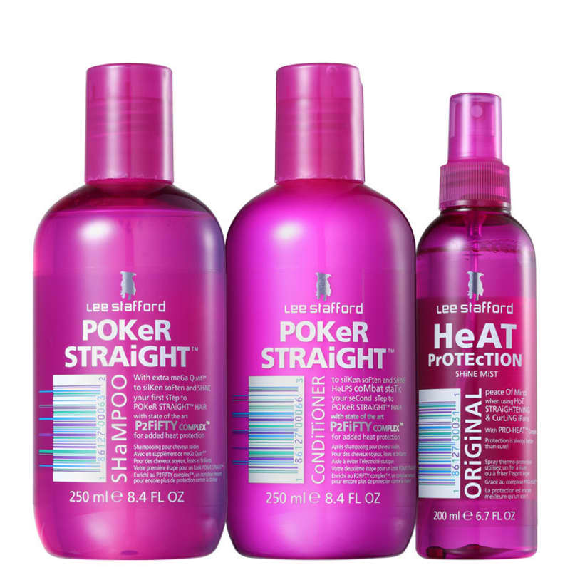 Kit Lee Stafford Poker Straight Cleansing & Protection (3 Produtos)