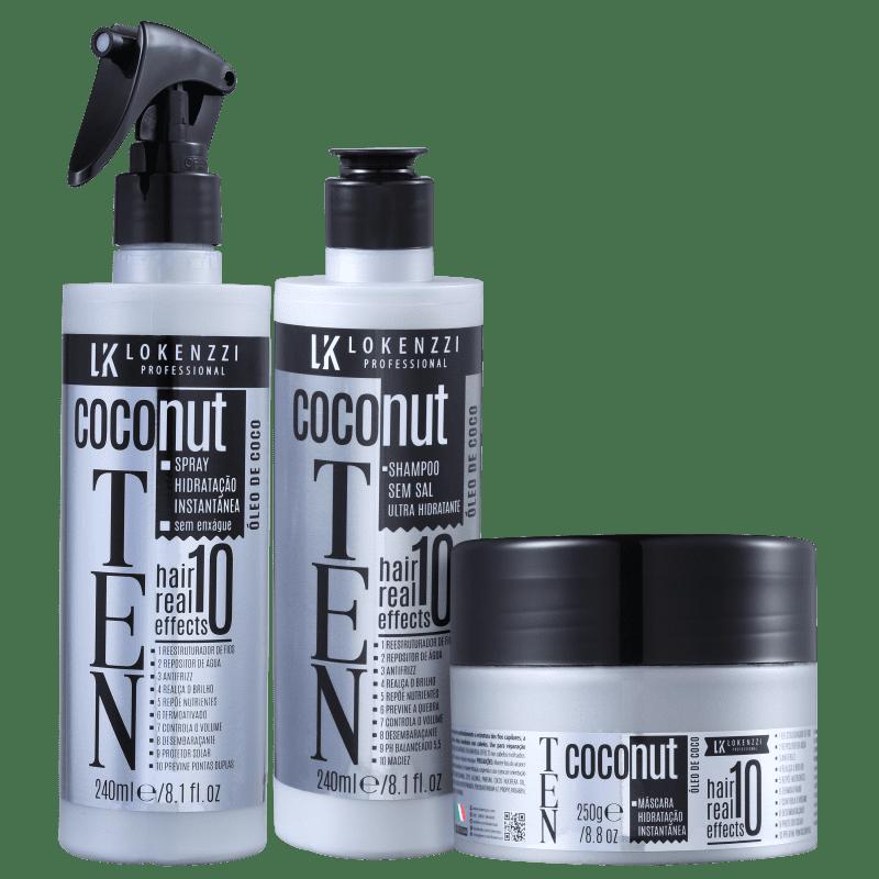 Kit Lokenzzi Ten Coconut Completo (3 Produtos)