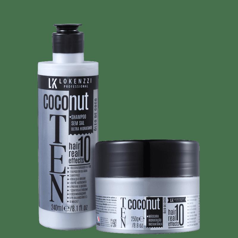 Kit Lokenzzi Ten Coconut Tratamento (2 Produtos)