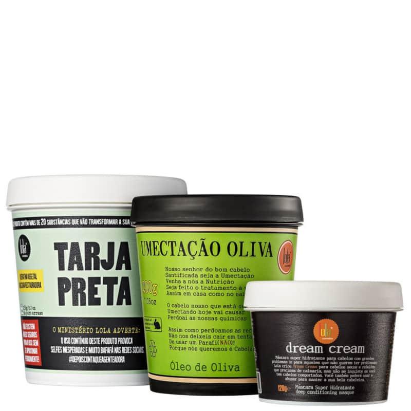 Kit Lola Cosmetics Cronograma Capilar Poderoso (3 Produtos)