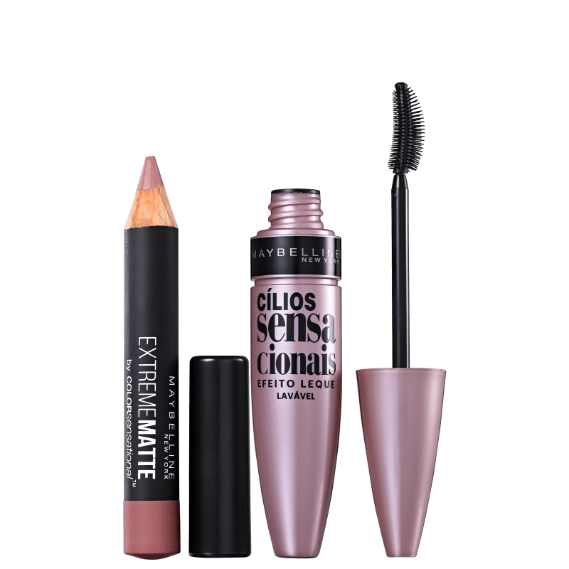 Kit Maybelline Color and Lash Sensational (2 Produtos)