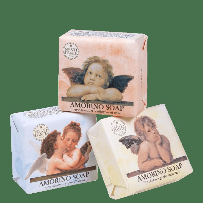 Kit Nesti Dante Collection Amorino - Sabonetes em Barra 3x150g