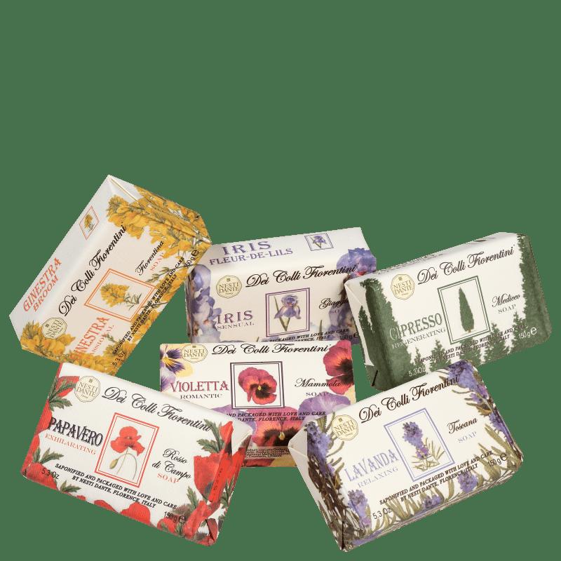 Kit Nesti Dante Collection Dei Colli Fiorentini - Sabonetes em Barra 6x150g