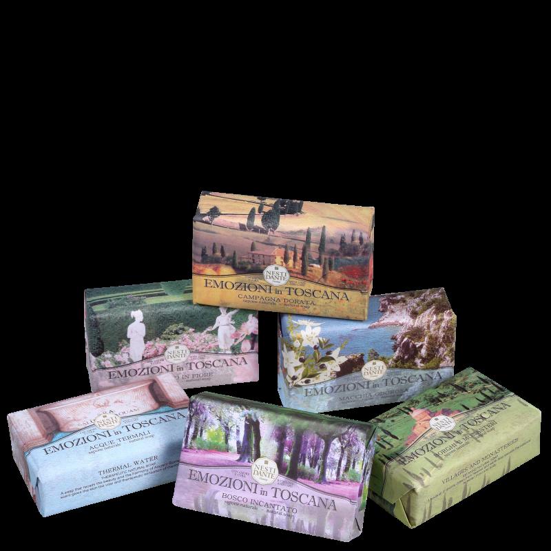 Kit Nesti Dante Collection Emozioni in Toscana - Sabonetes em Barra 6x150g
