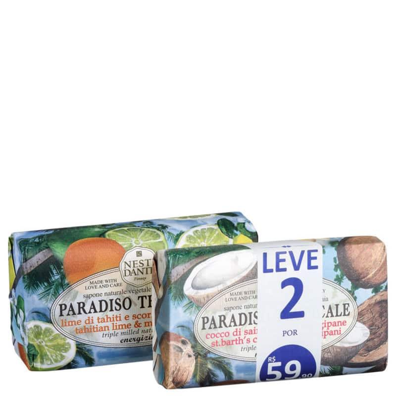 Kit Nesti Dante Paradiso Tropicale Lima & Coco - Sabonete em Barra 2x250g