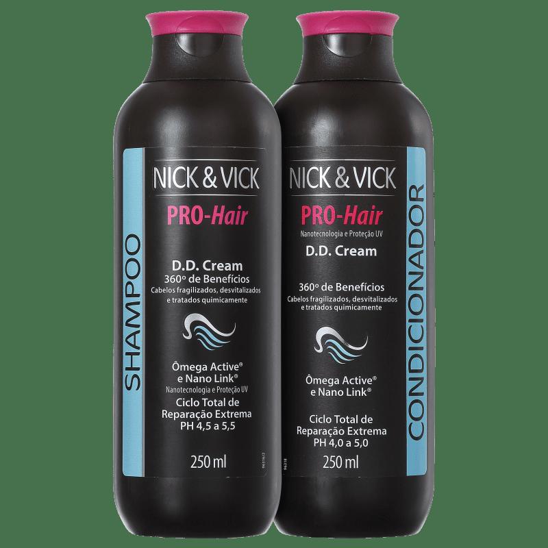 Kit Nick & Vick PRO-Hair D.D. Cream 360º Reparação Completa (2 Produtos)