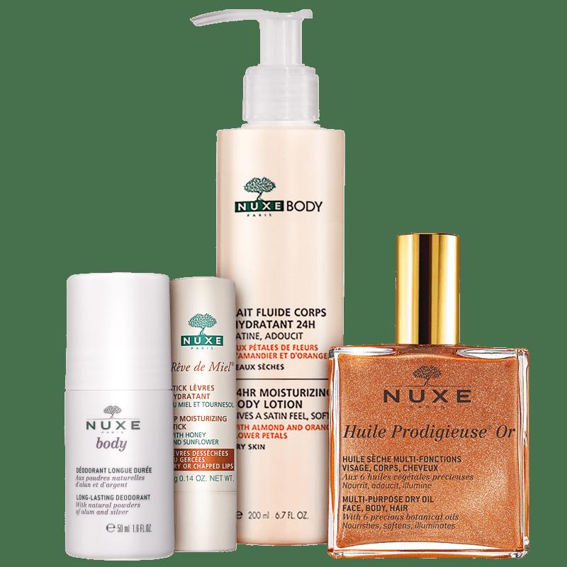 Kit Nuxe Lumière Hidratação Completa (4 produtos)