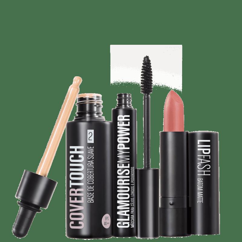 Kit Océane Cover Touch 2 Glamourise Lip Fash Gorgeous Nut (3 produtos)