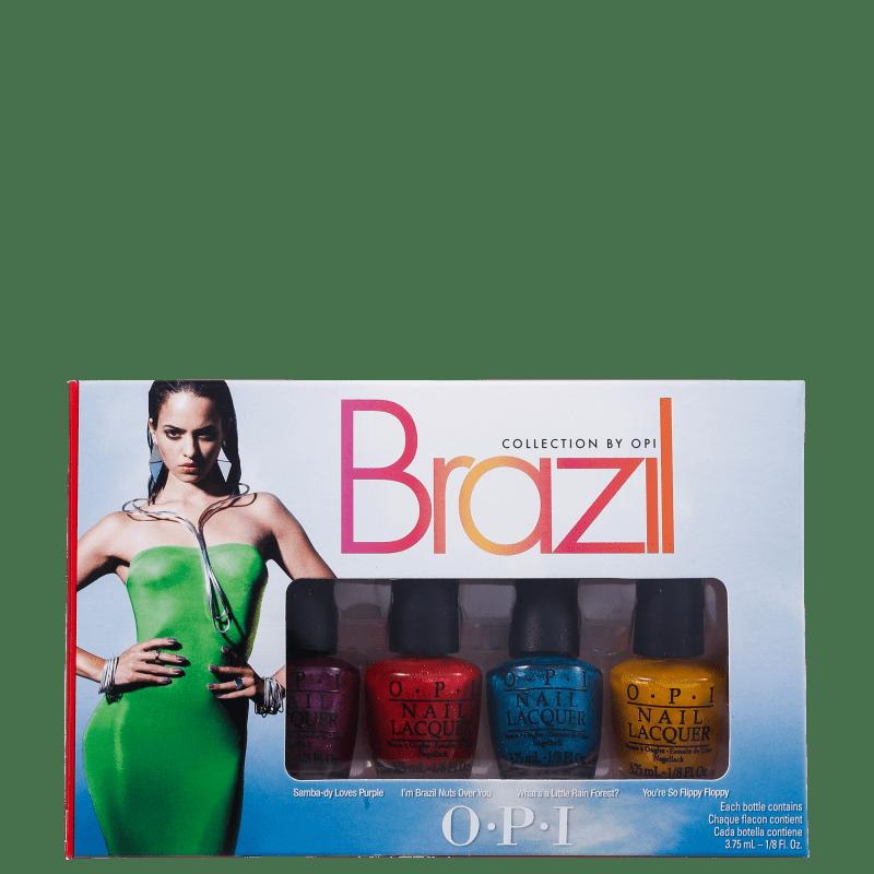 Kit OPI Brazil Collection Beachsandies de Esmaltes (4 miniaturas)