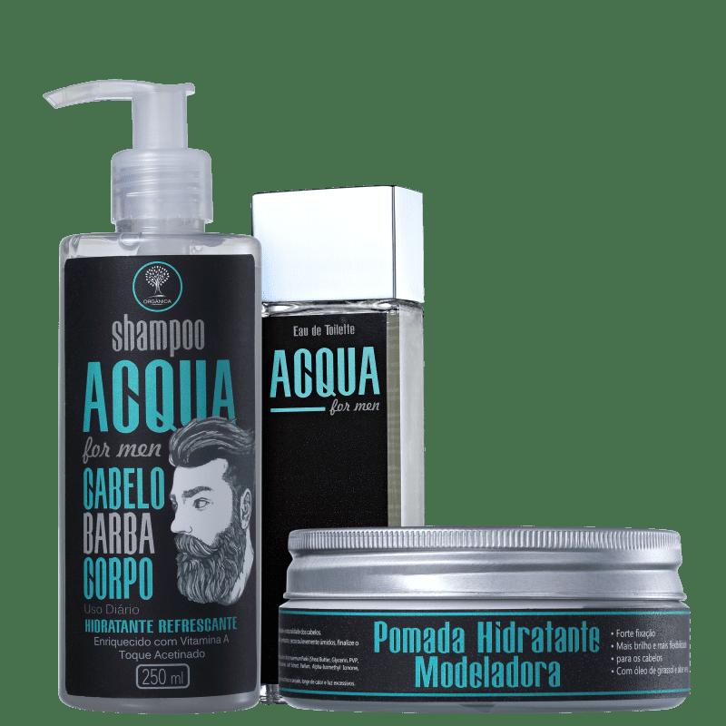 Kit Orgânica Acqua For Men Completo (3 Produtos)