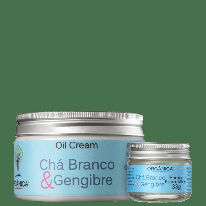Kit Orgânica Hidratação Vegetal com Chá Branco & Gengibre (2 Produtos)
