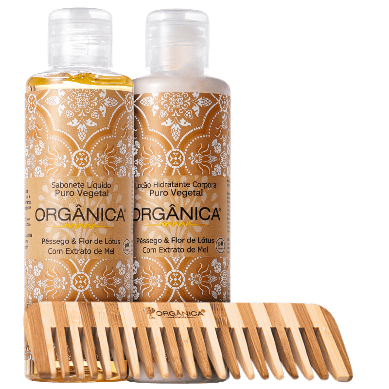 Kit Orgânica Set Pêssego e Flor de Lótus (3 produtos)