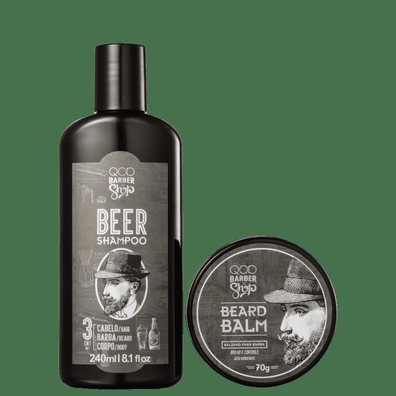 Kit QOD Barber Shop Beer Balm (2 Produtos)