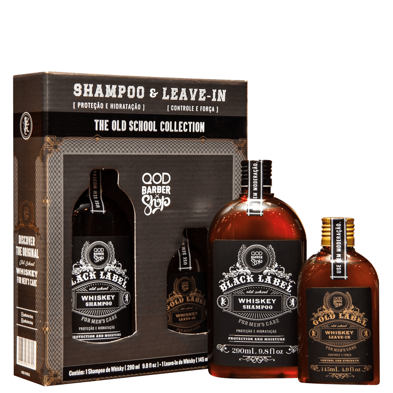 Kit QOD Barber Shop The Old School Collection Whiskey (2 Produtos)