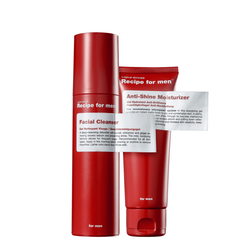 Kit Recipe for Men Clean Anti-Shine (2 Produtos)