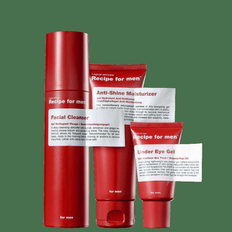 Kit Recipe for Men Full Anti-Shine (3 Produtos)