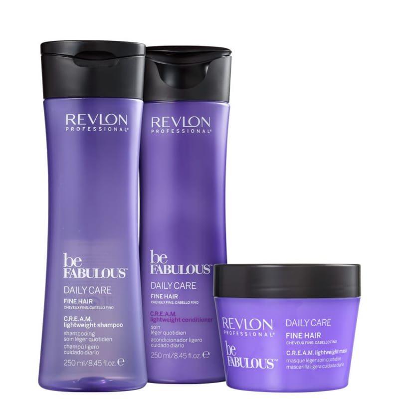 Kit Revlon Professional Be Fabulous C.R.E.A.M. Lightweight Treatment (3 Produtos)