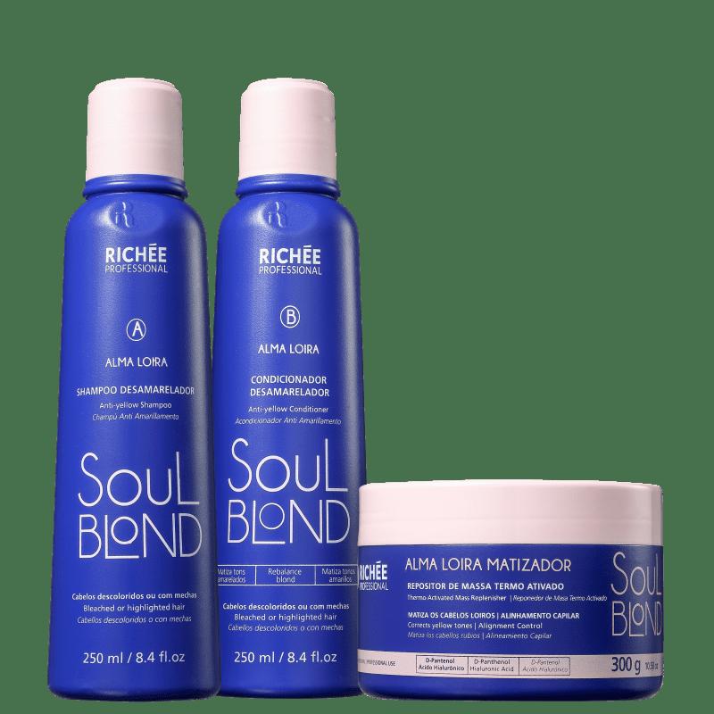 Kit Richée Soul Blond Tratamento (3 Produtos)