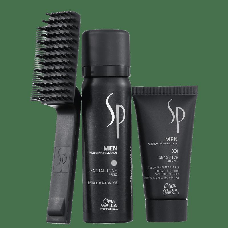 Kit SP System Professional Men Gradual Tone Black (3 Produtos)