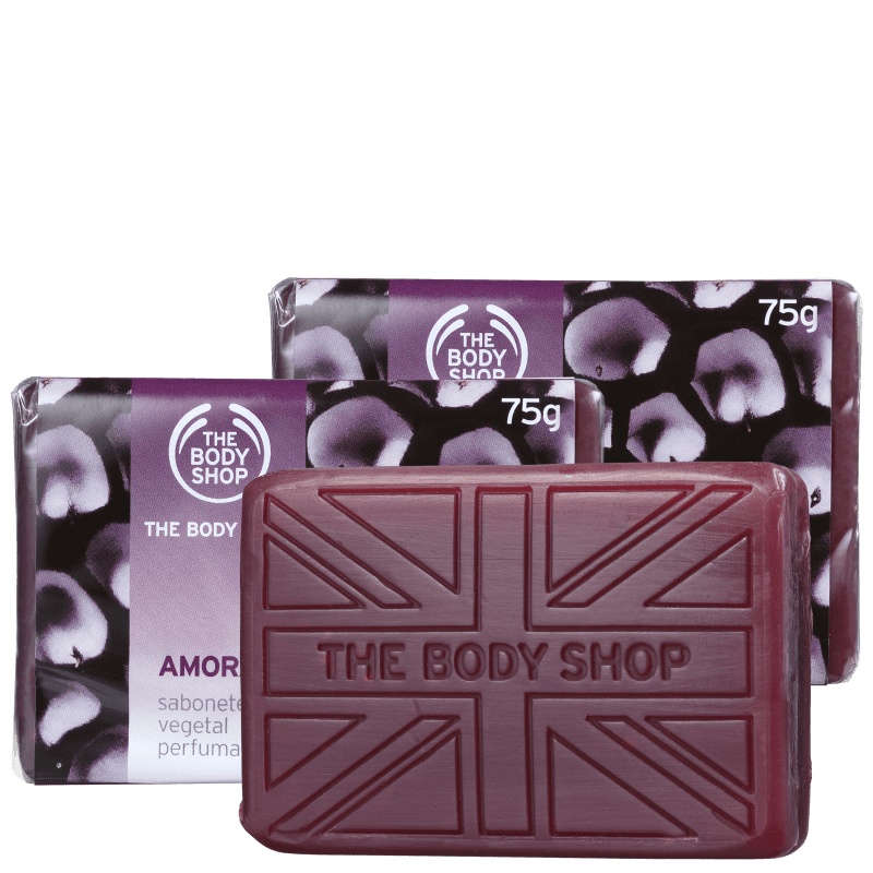 Kit The Body Shop Amora - Sabonetes em Barra 3x75g