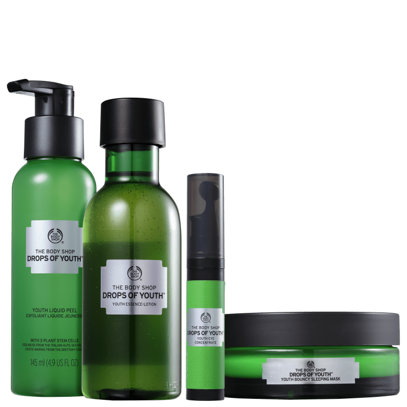 Kit The Body Shop Drops Of Youth Completo (4 Produtos)