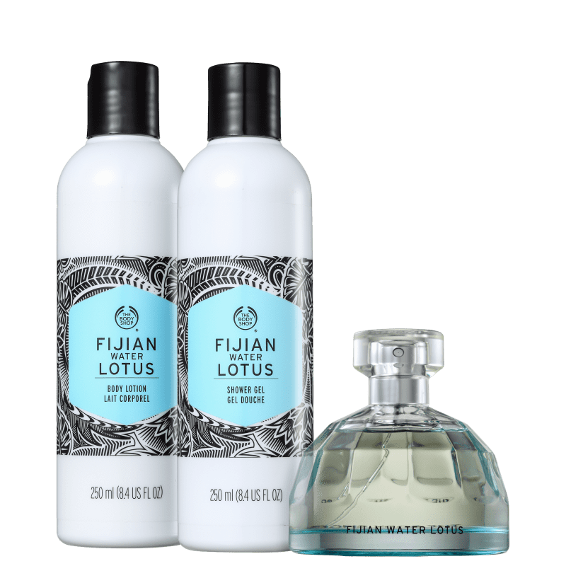 Kit The Body Shop Fijian Water Lotus (3 Produtos)