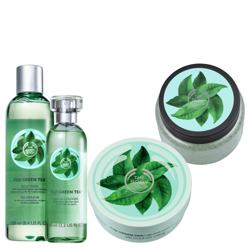 Kit The Body Shop Fuji Green Tea Intenso (4 Produtos)