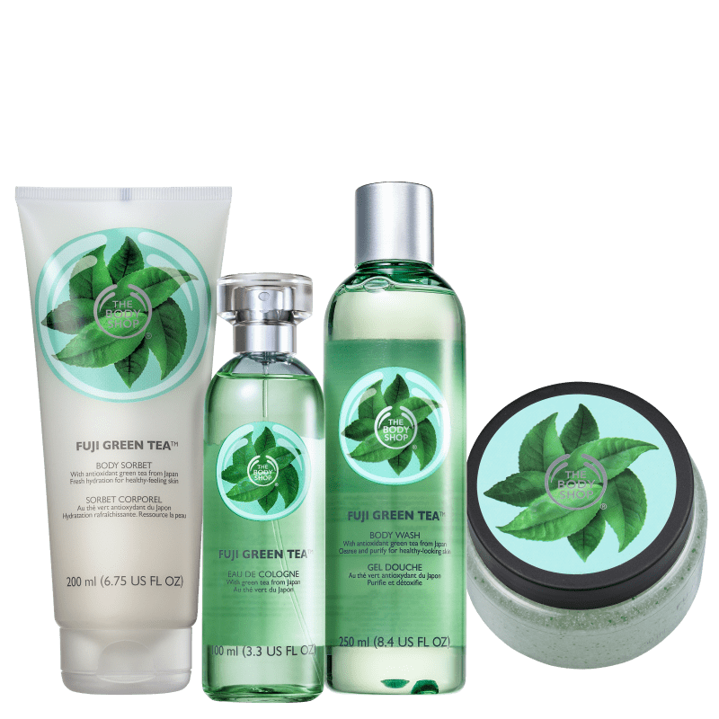 Kit The Body Shop Fuji Green Tea Refrescante (4 Produtos)