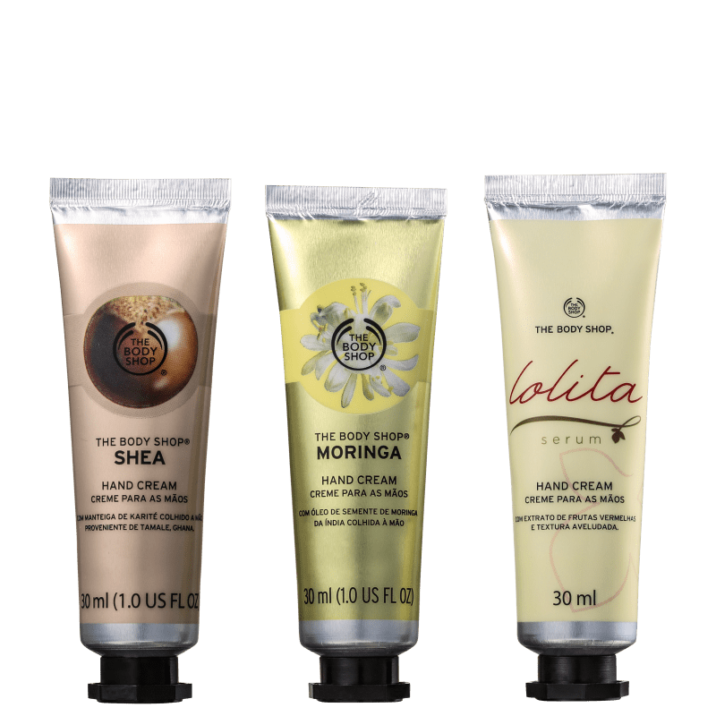 Kit The Body Shop Hand Trio - Cremes para as Mãos 3x30ml