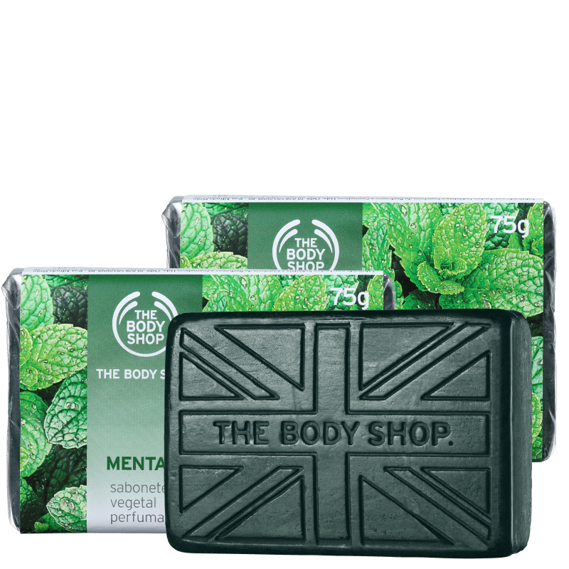 Kit The Body Shop Menta - Sabonete em Barra 3x75g