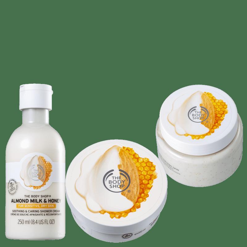 Kit The Body Shop Milk & Honey Completo (3 Produtos)