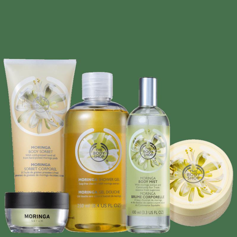 Kit The Body Shop Moringa Hidratação Poderosa (5 Produtos)