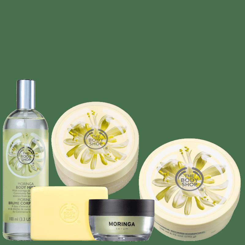 Kit The Body Shop Moringa Hidratação Profunda (5 Produtos)